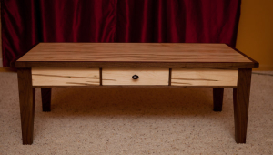 Maple Coffee Table With Drawer