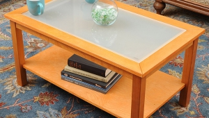 Maple Coffee Table With Glass Insert