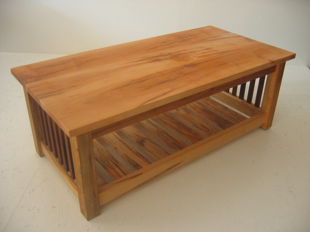 Maple Coffee Table With Open Shelf