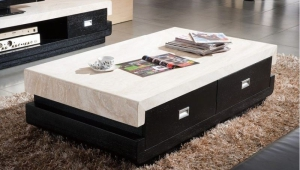 Marble Top Coffee Table With Drawers