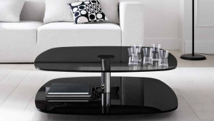 Modern Black Glass Coffee Table