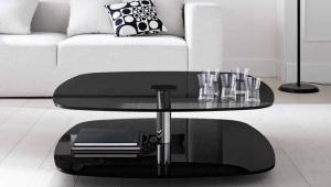 Modern Black Glass Coffee Table