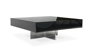 Modern Black Lacquer Coffee Table