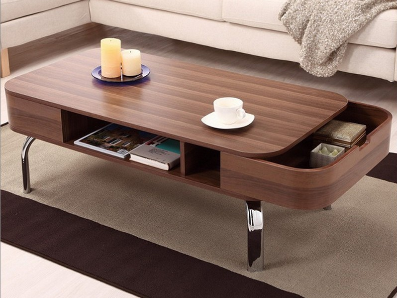 Modern Coffee Table With Wheels