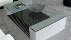 Modern Coffee Table With Concrete Base