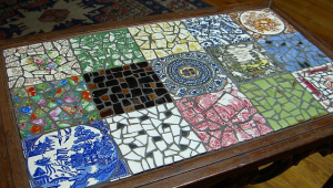 Multi Color Mosaic Coffee Table