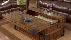 Multifunctional Rustic Wood Coffee Table