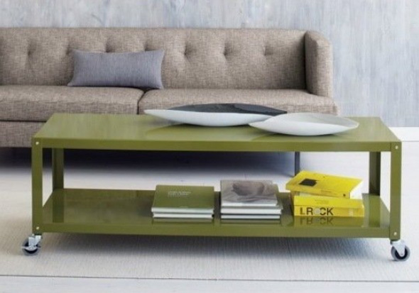 Narrow Movable Coffee Table