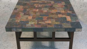 Natural Stone Slate Coffee Table