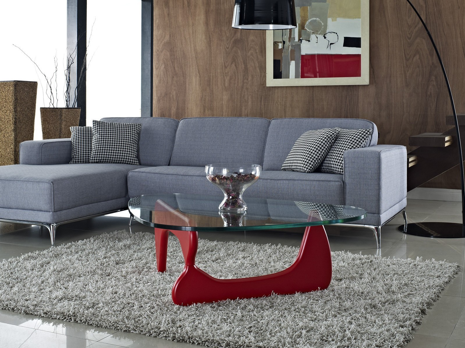 Noguchi Coffee Table In Red