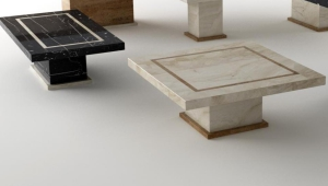 Notable Travertine Coffee Table