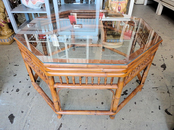 Octagonal Bamboo Coffee Table