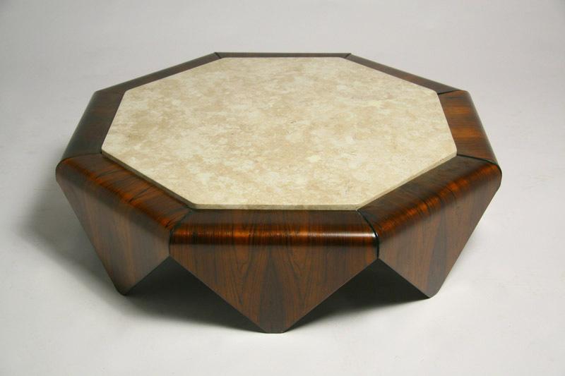 Octagonal Travertine Coffee Table