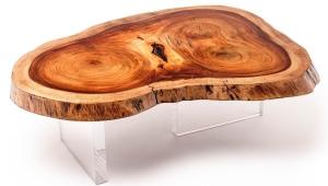 Original Wood Slab Coffee Table