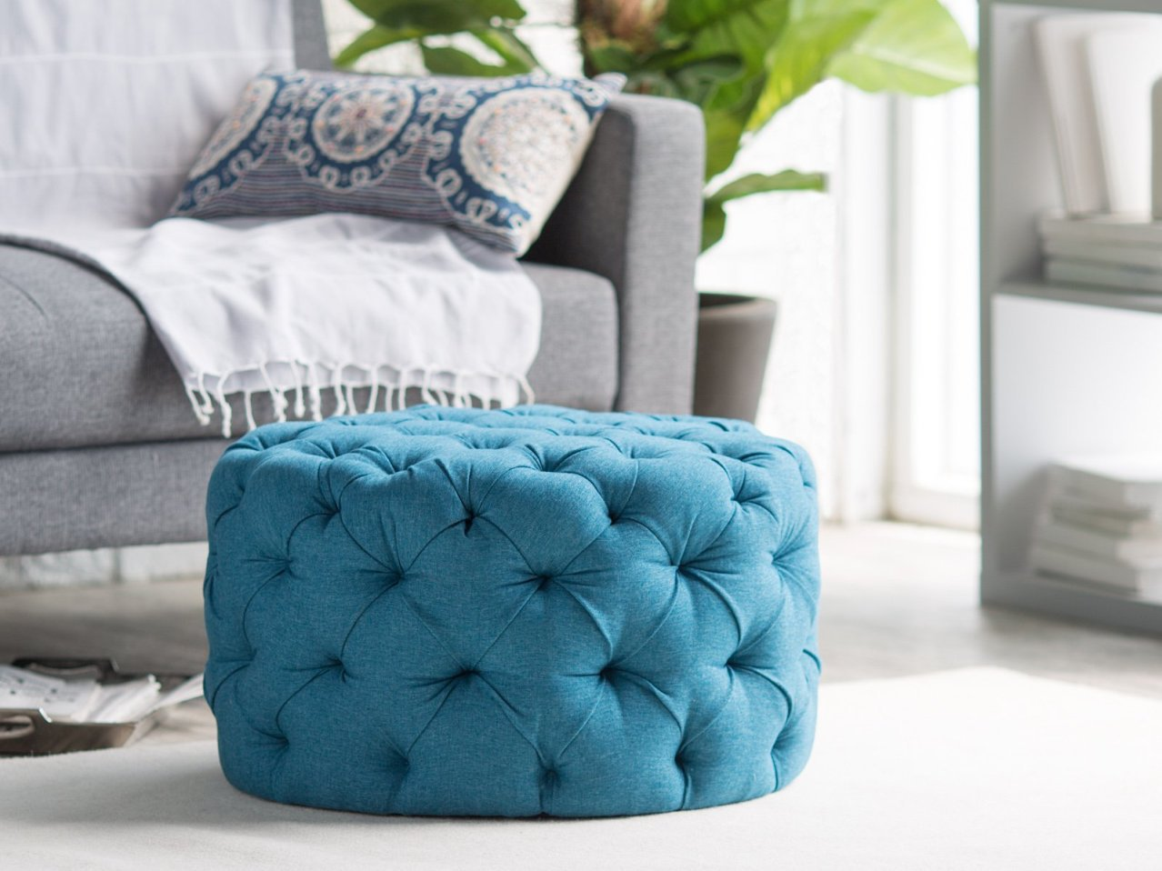Ottoman Blue Coffee Table