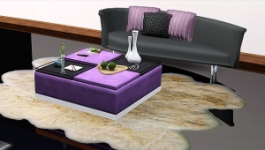 Ottoman Coffee Table With Decorative Trays