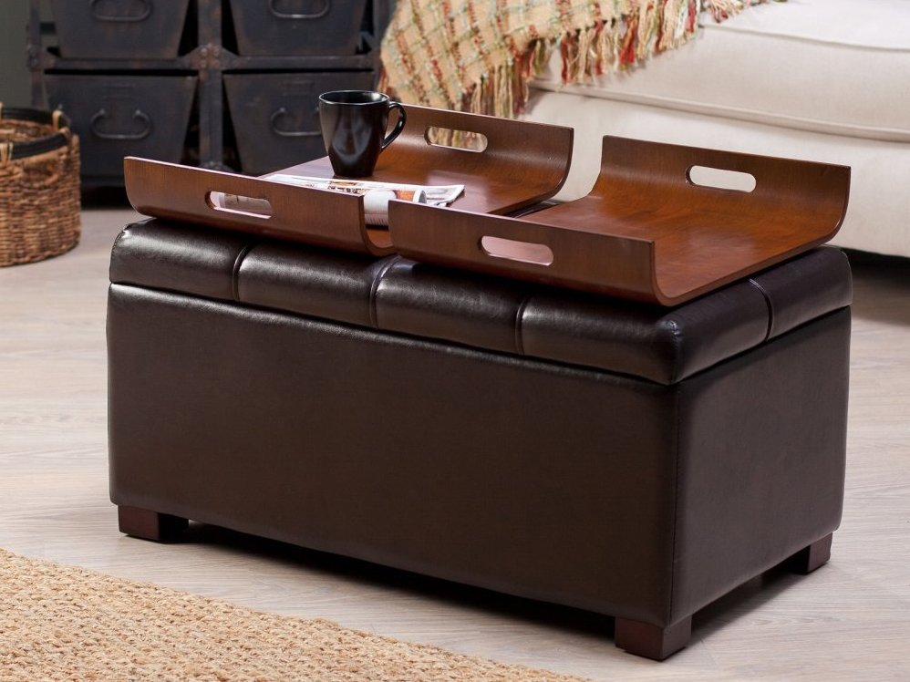 Ottoman Coffee Table With Special Tray