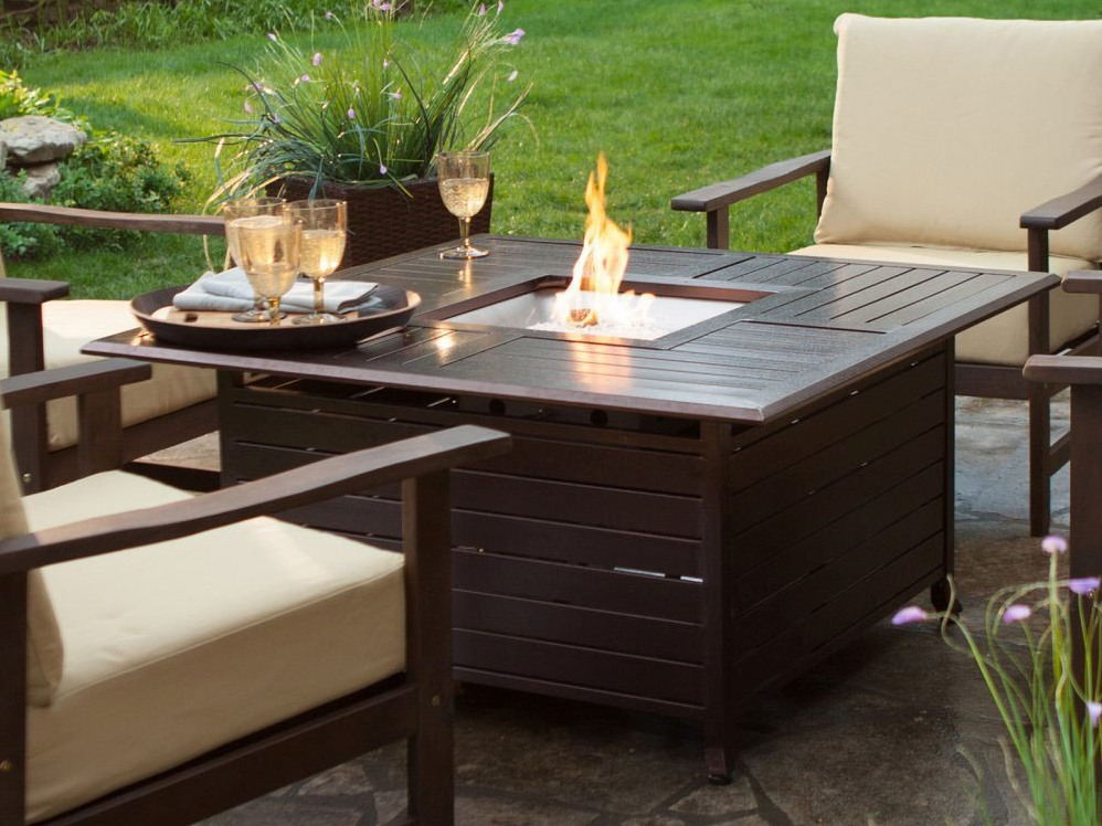 Outdoor Coffee Table With Fireplace