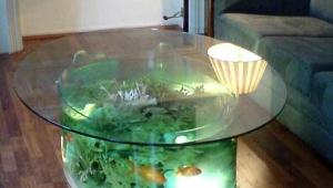 Oval Aquarium Coffee Table