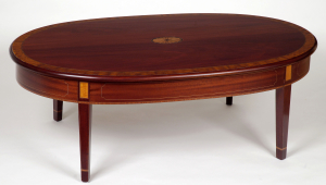 Oval Mahogany Coffee Table