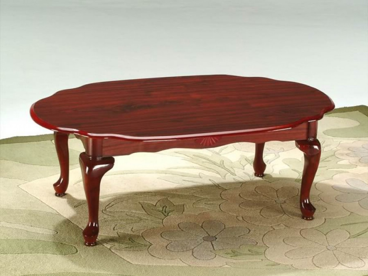 Oval Redwood Coffee Table