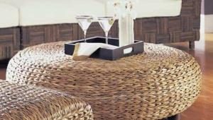 Oversized Rattan Coffee Table