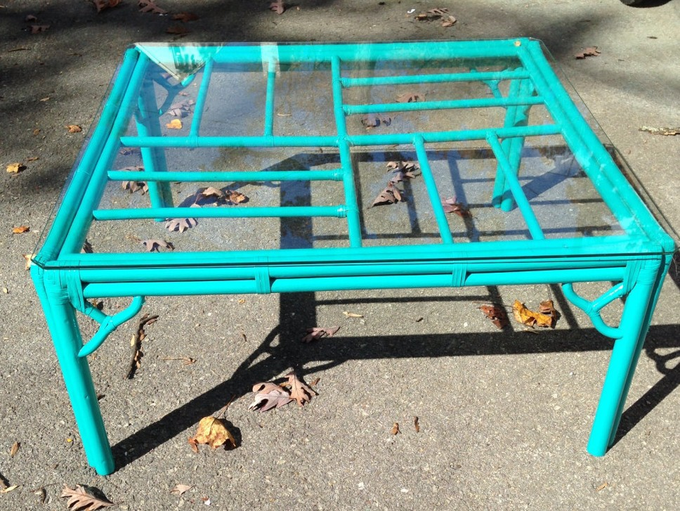 Painted Bamboo Coffee Table