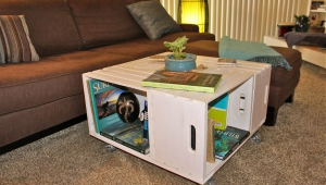 Painted Crate Coffee Table