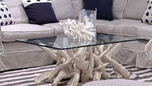 Painted Driftwood Coffee Table