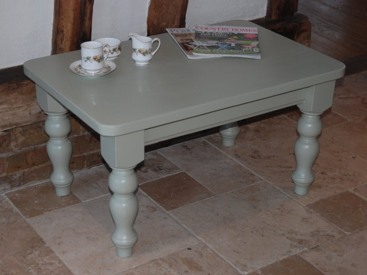 Painted Grey Coffee Table