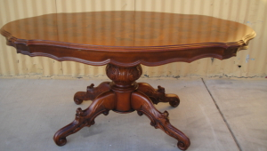 Pedestal Coffee Table With Four Base Legs