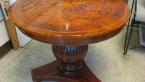 Pedestal Coffee Table With Massive Central Column