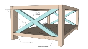 Plan For Coffee X Table