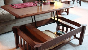 Pop Up Coffee Table With Shelf