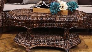Posh Rattan Coffee Table