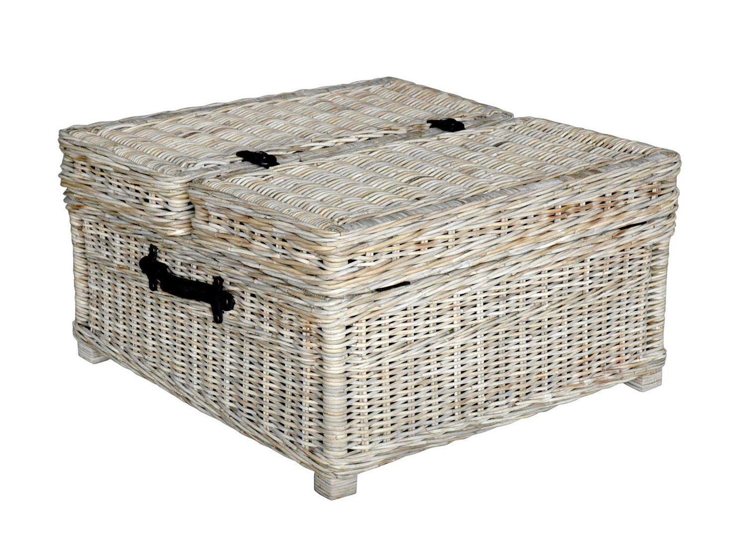 Rattan Coffee Table With Hidden Storage
