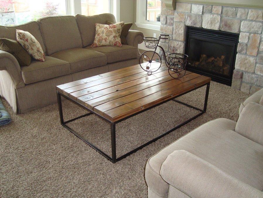Reclaimed Polished Wood Coffee Table