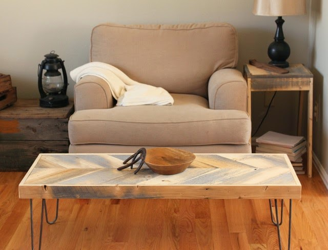 Reclaimed Wood Coffee Table Modern Design