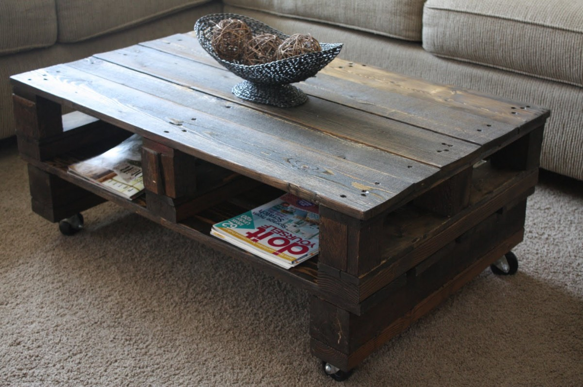 Reclaimed Wood Coffee Table With Magazine Storage