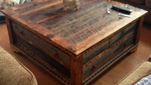 Reclaimed Wood Trunk Coffee Table