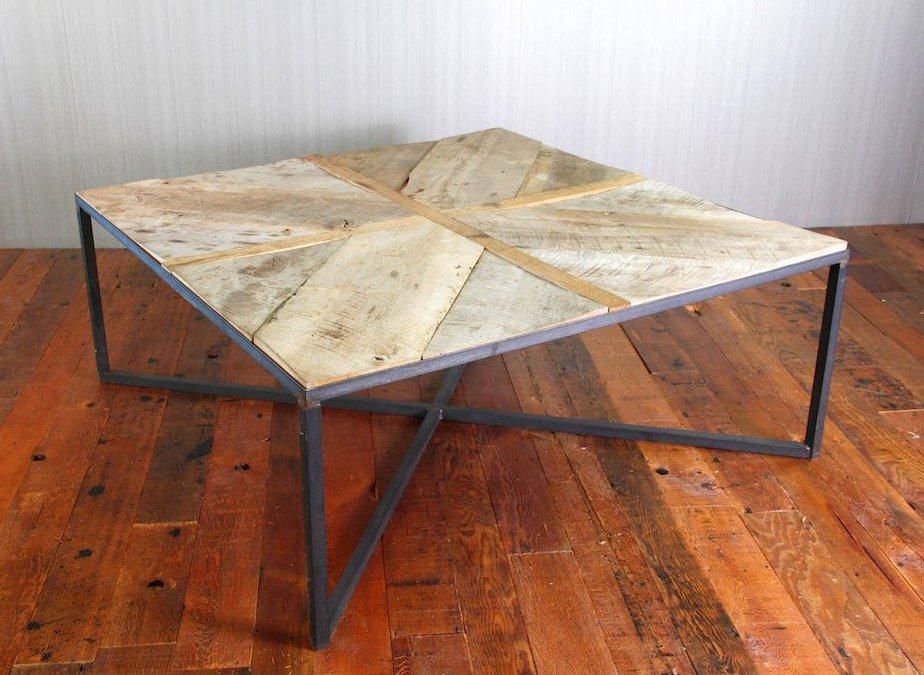 Reclaimed Wood X Base Coffee Table
