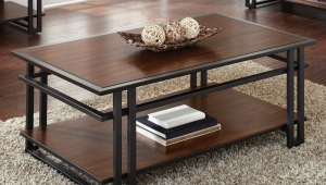Rectangle Cherry Wood Coffee Table
