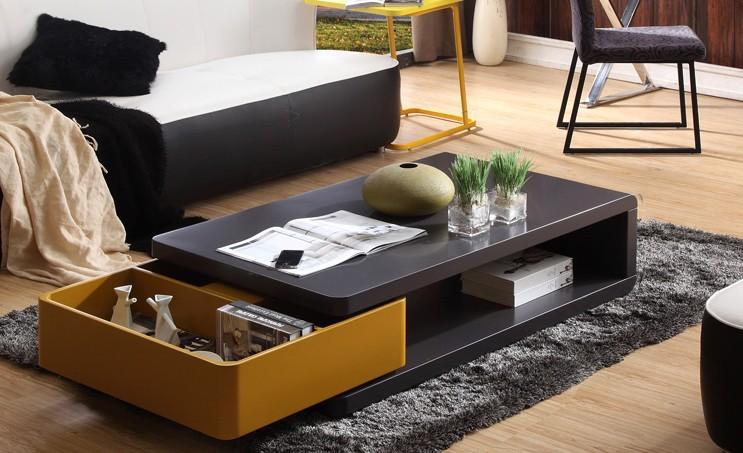 Rectangular Coffee Table With Original Drawer