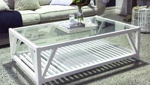 Rectangular Glass Top Coffee Table
