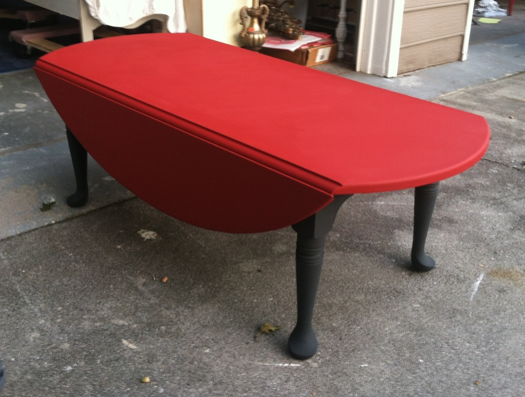 Red Drop Leaf Coffee Table