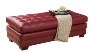Red Upholstered Coffee Table
