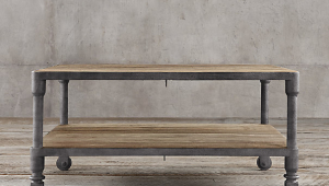 Restoration Hardware Industrial Square Coffee Table