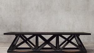 Restoration Hardware Trestle Coffee Table