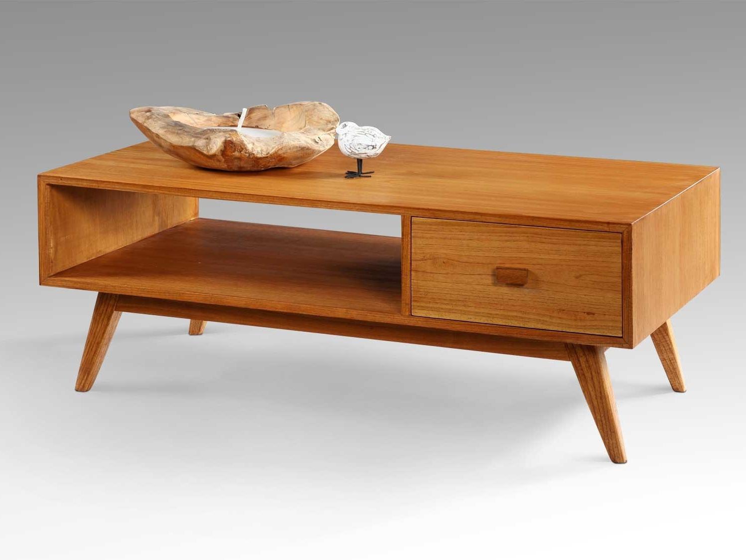 Retro Coffee Table With Open Shelf