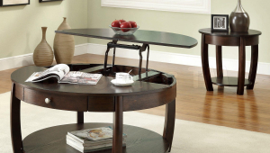 Round Coffee Table With Lift Top